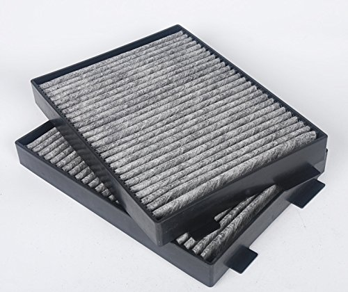 Car Cabin Air Filter (Beehive Filter Cabin Dust Air Filter Activated Charcoal Carbon for 5 Series E39 520i 523i 525i 528i 530i 540i 520d A/C Replace 64119216588 64110008138 CUK 2736-2 (Pack of 2))