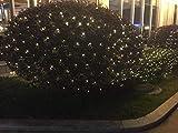 Lichternetz 3 x 3 Meter mit 200 LED Warmweiß und 10 % binkenden LED´s