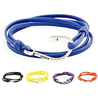 Gnzoe Gioielli Bracciali Uomo/Donne In pelle Perlina Braccialetto Polsino Nautical Navy Hook Anchor