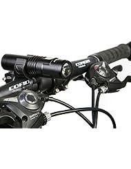 Sahoo 100% Wasserdicht LED Fahrradlicht USB Wiederaufladbare Fahrradbeleuchtung, 700LM Fahrradlampen 4 Licht-Modi Frontlicht aus Luftfahrt Aluminium mit Schwache Batteriestand Anzeige