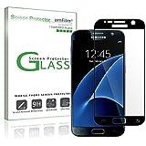 Galaxy S7 Screen Protector Glass (Full Screen Coverage), amFilm Bye-Bye-Bubble Samsung Galaxy S7 Tempered Glass Screen Protector [Bubble Free] T-moible Sprint ATT Verizon 2016 (Black) [Lifetime Warranty]