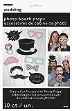 Unique Party Supplies 10-tlg. lustige Foto Requisiten für Hochzeitsfotos - Hochzeit Fotos Photos Props