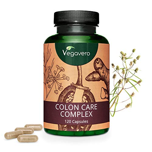 COLON Care Vegavero® | Colon Irritabile - Regolarità Intestinale - Digestione | 120 capsule | Vegan