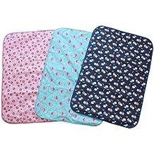 Estera impermeable de cambiante - TOOGOO(R)Estera impermeable reutilizable de cambio de algodon de panal para bebe(S Tamano)