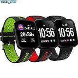 WCPZJS V6S Smart Armband Herzfrequenz Schlaf Gesundheit Monitor MSM Erinnerung Drücken Trainingsmodus Stoppuhr Wettervorhersage Smart Armband