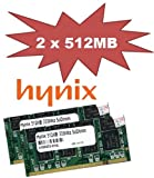 1GB Dual Channel Kit Mustang / Hynix original 2 x 512 MB 200 pin DDR-333 (PC-2700) SO-DIMM double side für DDR1 Notebooks