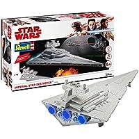 Revell with Lights & Sounds Wars Imperial Star Destroyer Kit de Plug-in Simple con luz y Sonido. armar y Jugar (06749)