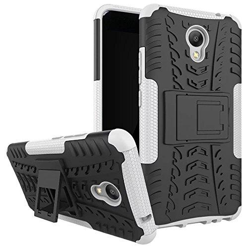 Meizu M5 note Hülle, SMTR 2in1 Ultra Slim Silikon Rückseite Schutzhülle, mit Standfunktion und Advanced Shock Absorption Technology hülle für Meizu M5 note , Weiß