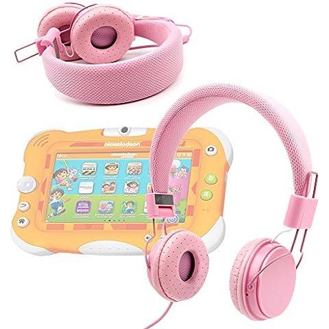 DURAGADGET Auriculares Infantiles Color Rosa Para Videojet Nickelodeon - De Diadema Cerrados Acolchados Y Ajustables - De Alta Calidad ¡Perfecto Para Los Más Peques! - Disponible En Color