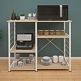 DlandHome Soporte para carro de microondas 35.4', Almacenamiento de utilidad de cocina 3 niveles + 3 niveles...