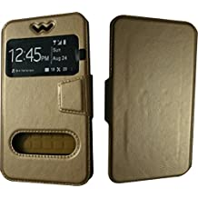 BKDT Marketing Leather look Flip Cover for Nokia Lumia 720 With Stand - Brown