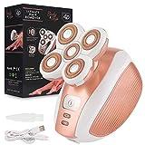 Epilierer Haarentferner für Damen Elektrorasierer - AMTOK Wet und Dry für eine mühelose Anwendung an Beinen, Körper & Gesicht für langanhaltend glatte Haut, Wasserfest Wiederaufladbar