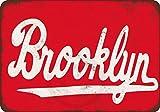 qidushop Brooklyn Vintage Reproduction Metal Signs Plaque en Aluminium Humoristique pour Garage, Maison, Cour, clôture, allée 20 x 30 cm...