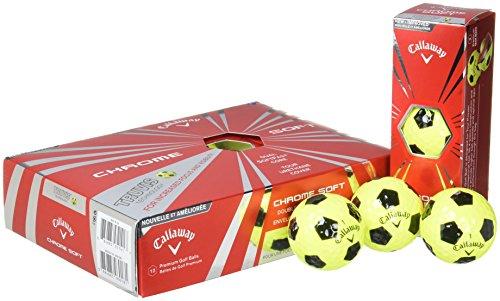 Callaway pour homme CG BL 16Chrome doux Balle de golf Taille unique Truvis Yellow/Black