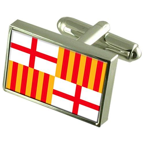 Stadt Barcelona Spanien Flagge Manschettenknöpfe