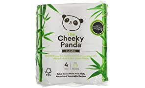THE CHEEKY PANDA | Natural Bamboo Toilet Tissue | 2 x 4 Rolls (UK)