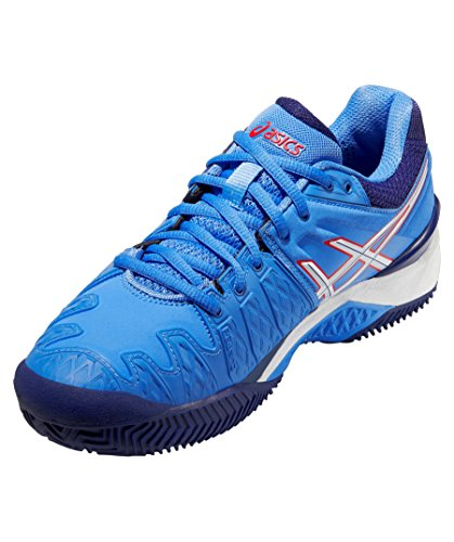 Asics Gel-Resolution Scarpa TENNIS donna 6 Clay - blau / weiß / rot
