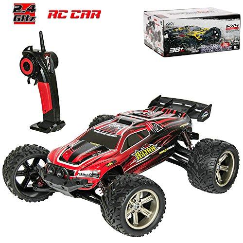 Ferngesteuertes Auto für Kinder, RC Auto 1:12 Skala 2,4 Ghz RC Racing Buggy Monstertruck Offroad Crawler Mit 80M Entfernung Fahrzeug Spielzeug Hohe Geschwindigkeit von 38km/h Funkgesteuert Auto Rot