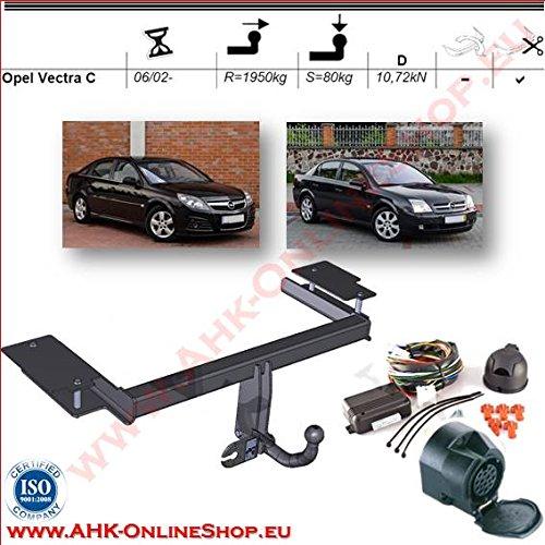 AHK Anhängerkupplung mit Elektrosatz 13 polig für Opel Vectra C 2002- Kombi,Schrägheck Anhängevorrichtung Hängevorrichtung - starr, mit angeschraubtem Kugelkopf