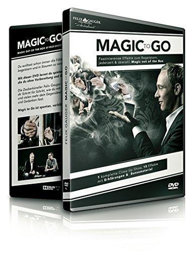 Magic to Go - Out of the box Lehr-DVD Zauberkasten-Magie, Zaubershow geheime magische Zauber-Tricks lernen meisterhaft zaubern leicht gemacht, deutsche Anleitung, 90 min. (Anfänger Zaubertricks)
