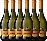 6er Paket - Prosecco Frizzante DOC - Villa Sandi   italienischer Perlwein   Prosecco aus Venetien   6 x 0,75 Liter