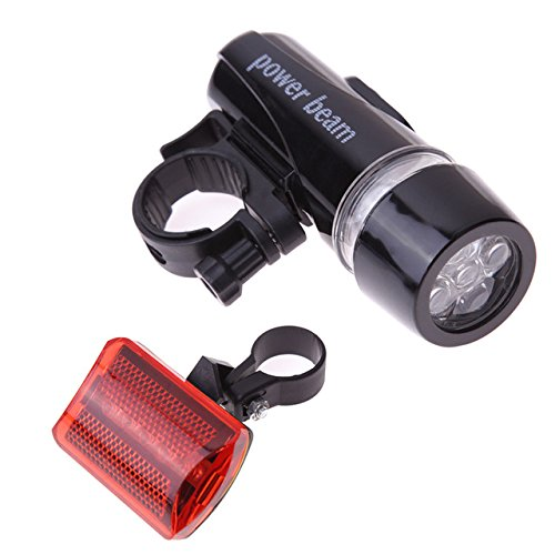 Generic Waterproof Bike Bicycle Lights 5 LEDs Bike Bicycle Front Head Light + Safety Rear Flashlight Torch Lamp headlight accessory  available at amazon for Rs.1180