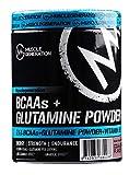 Musclegeneration BCAAs + Glutamine Powder 400g  hochdosierte essentielle Aminosäuren Pulver in Premium Qualität mit leckerem Geschmack  Nahrungsergänzungsmittel für Muskelaufbau, Regeneration, Bodybuilding und Abnehmen. Verzweigkettige Aminos (Leucin, Isoleucin, Valin) in Cola-Lemon Geschmack