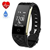 HETP Fitness Tracker HR, Smart Watch with Heart Rate Monitor Activity Tracker Wristband/Waterproof/Sensitive/Touch Screen Calorie Counter Pedometer Sleep Monitor for Android & iOS