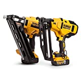 DEWALT DCK264P2 DCK264P2-18V-XR Cordless Li-Ion Brushless Nailer Twin Pack in Tough System Box, 18 V, Yellow/Black, One Size