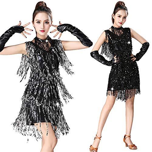 KANGJIABAOBAO Damen tanzkleid Frauen Dancewear Metallic Pailletten