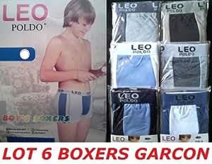 *** PROMOTION *** Lot 6 boxers garçon 100% coton - Taille 4 / 6 ans