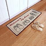 Alicemall Alfombra Antilizante 40*100cm Felpudos Entrada con Zapatos Alfombrilla para Sala de Estar o Dormitorio