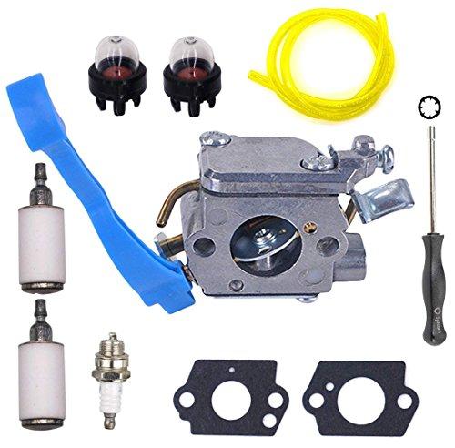 OxoxO Replace Carburetor with Adjustment Tool Kit Screwdriver Primer Bulb for Husqvarna 125B 125BX 125BVX ZAMA C1Q-W37 545081811 High Qualit Tune up Kits -