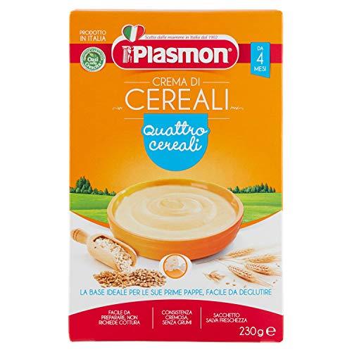 Plasmon Crema di cereali 4 Cereali Indicato dal 4⁰ Mese Compiuto 230 g