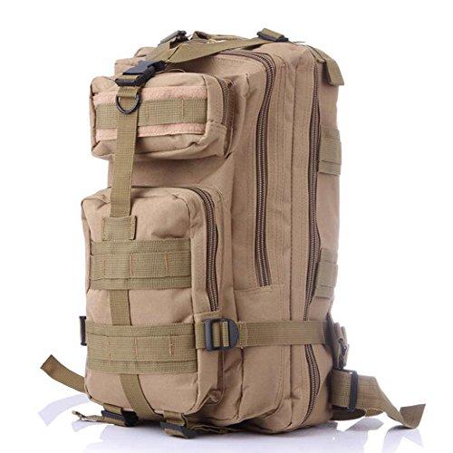 Fulanda zaino sport outdoor zaino tattico camouflage borsa per campeggio viaggio escursionismo, unisex, Khaki Khaki