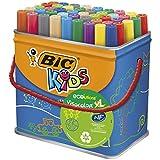 BIC Kids Visacolor XL rotuladores Punta Gruesa - colores Surtidos, Caja de 48 unidades