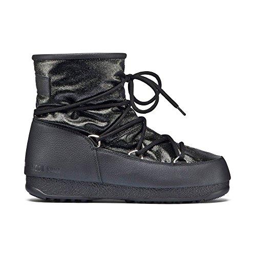 Moon Boot W.e. Low Glitter, Bottes de Neige Femme, Noir