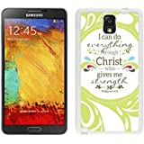 Slim cover case for Galaxy Note 3 Case, Spigen Slim Armor for Galaxy Note 3 - Retail Packaging - Soul White Christian Theme - Bible Verse Philippians 413 - Durable and lightweight Cover Case Samsung Galaxy Note 3 Case White Cover