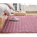 Unbekannt Fußmatten Tatami Überwürfe Sitzauflagen Reine Baumwolle Hause Tatami-Matte Crawling Matte Matte Maschine Waschbar Waschbar (Color : Gray, Size : 120 * 200cm)