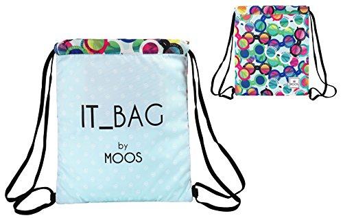 Moos - Saco-mochila con diseño gafas, 35 x 40 cm (Safta 611523196)
