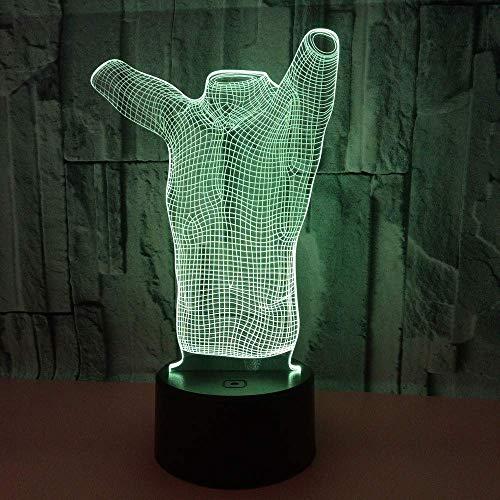 Neue Kleidung Modell 3D Licht Bunte Touch Fernbedienung 3D Led Lampe Kleine Geschenke Led Nachtlicht Luminaria De Mesa Tischlampe Schlafzimmer Lichter -