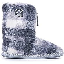 En forma de cubo para Athletics - McQueen - botas de diseño de cuadros de forro polar Sherpa de ante para patucos - gris