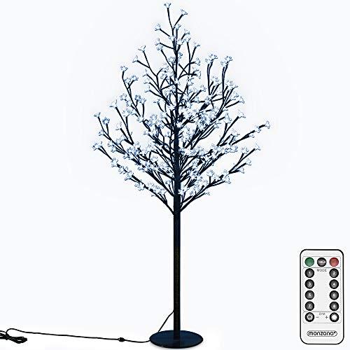 Deuba Kirschblütenbaum 200 LED | 180cm I Fernbedienung I Timer I 8 Leuchtmodi I Lichterbaum Indoor Outdoor | Blau