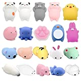 Christalor 2018 Newest 20 Pcs Squishies Slow Rising Kawaii Squishies Jumbo Pack Sale ,Decompression Toys,Squeeze Toys,20Pcs Animal Squishies Party Favors for Kids Stress Relief Toys Cat Reliever Squishy Mini Novelty Gifts Seal Rabbit Random Squishys