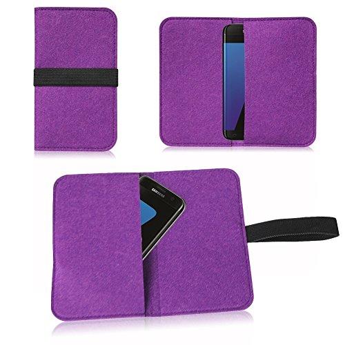 Filz Hülle für Apple iPhone 6s Plus / 6 Plus Tasche Cover Case Flip Filztasche , Farben:Türkis Lila