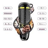 Urnight Automatischer Masturbator Teleskopischer Cup mit 10 Vibration Modi 5 Drehen, Masturbation Sex Men Cup, 4D Realistisch Vagina Intelligente Aussprache, USB und wasserdicht