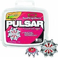 Softspikes Pulsar - Tacos para zapatos de golf de metal (6 mm), color rojo