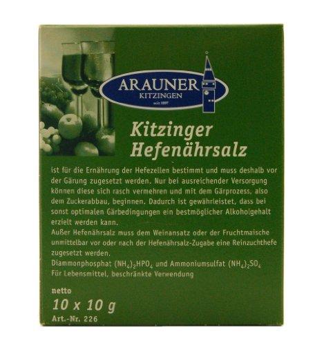 Arauner Kitzinger Hefenährsalz, 10x10g