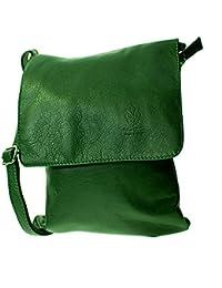 bb38f70a11224 Echt Leder Umhängetasche Damen Tasche Handtasche Ledertasche Schultertasche  grün