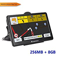 Aonerex Sat Nav GPS Navigation System 7-Inch HD, Voice Car Navigation System, Built-In 8Bg&256MB No Need To Insert a Card Car Gps Navigator- Lifetime Map Update